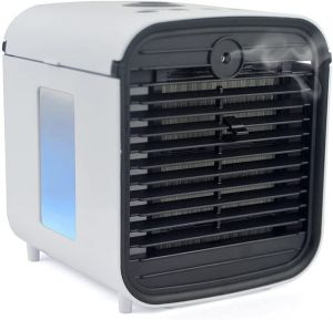 StayCool Arctic Blast Personal Air Cooler V2 - USB Powered Humidifier Fan With Colour Changing LED Night Light Water Tank – 3 Speed Settings – Atomiser Diffuser - White
