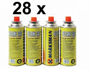 28 BUTANE GAS CANISTER BOTTLES FOR PORTABLE HEATER COOKER CAMPING COOKING STOVE