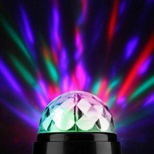 360° ROTATING DISCO LIGHT DJ Party Crystal Ball Effect Xmas Birthday New Year