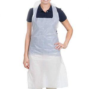 50 Disposable Adult Plastic Aprons Kitchen Waterproof Apron Gown Polythene[50pcs]