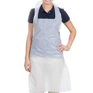 JPN Disposable Vest Tie Back Aprons One Size Large Overhead Aprons | Protects Front and Back (500)