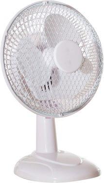 """6"""" Desk Fan 2 Speed Fine Elements Tilts Up Down Instant Cool Air Fan White"""