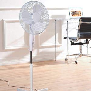 2 X Oscillating 16 Inch Free Standing Pedestal Fan White