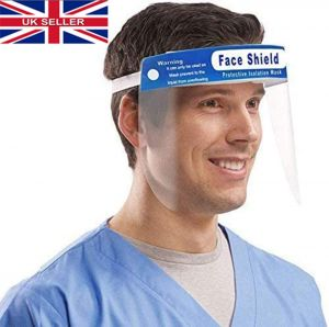 JPN Transparent Safety Face Shield Full Protection Cap Wide Visor, Adjustable, Easy to Clean
