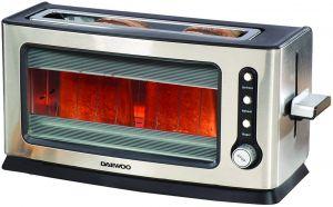 Daewoo Glass Toaster, Steel, 900 W