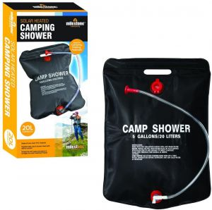 Portable Solar Camping Shower Bag Outdoor Hiking Heated Bathing Water Bag 20Lt