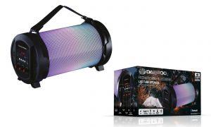 Daewoo Rechargeable Bluetooth LED Tube Speaker SD/USB Microphone AVS1357