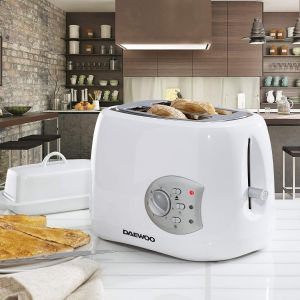 Daewoo SDA1711GE Balmoral Plastic Toaster with Electronic Timer