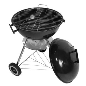Fine Garden BBQ GRILL 17inch Kettle barbeque, Grill With Lid outdoor charcoal bbq grill round bbq grill surround with two wheels