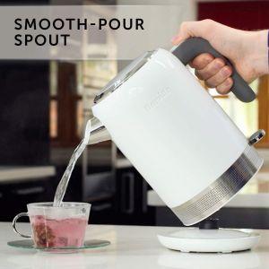Breville VKJ946 High Gloss Electric Kettle, 3 KW Fast Boil, 1.7 Litres, White