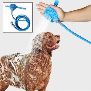 Pet Dog Cat Bath Shower Bathing Tool Hair Washer Water Sprayer Head Cleaning