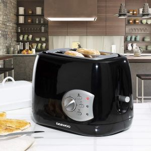 DAEWOO SDA1710GE Balmoral Plastic Toaster - 2 Slice Black