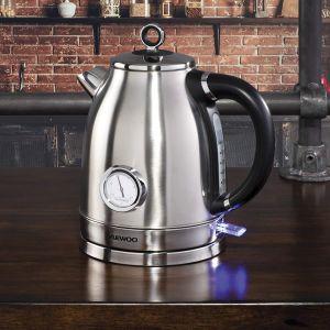 Daewoo Kingsbury 1.7L Stainless Steel Dial Kettle  - Silver
